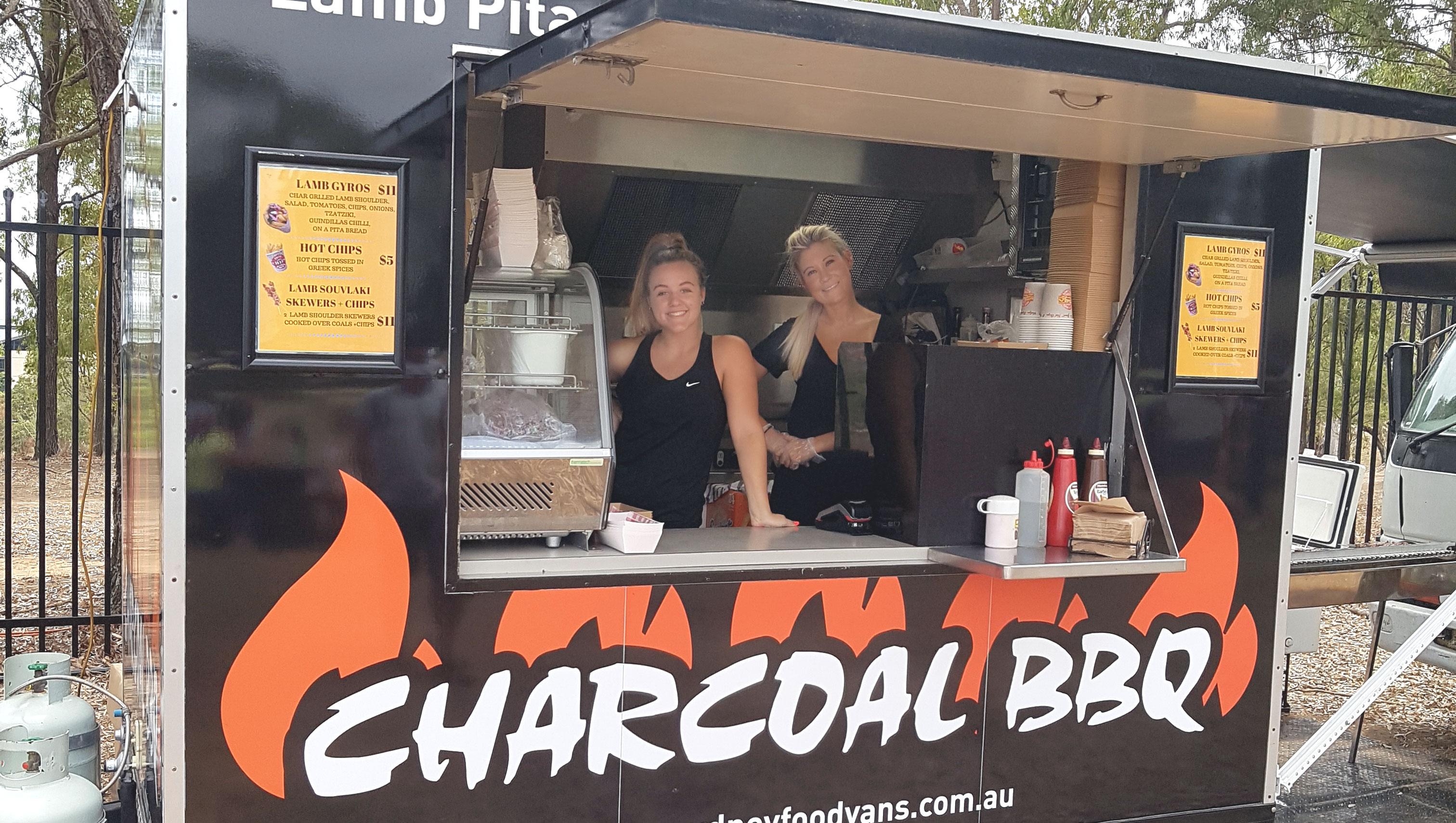 Charcoal BBQ Van
